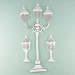 Prima - Shabby Chic Collection - Metal Treasure Embellishments - Street Lamp