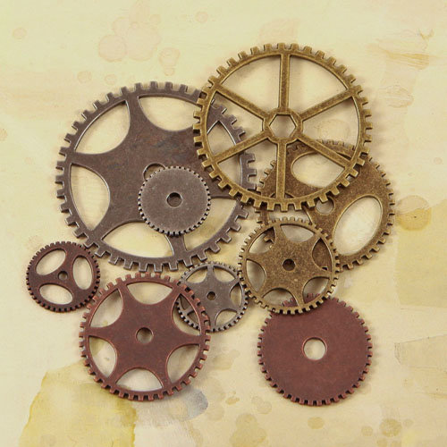 Prima - Junk Yard Findings Collection - Ingvild Bolme - Trinkets - Metal Embellishments - Gears