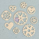 Prima - Junk Yard Findings Collection - Ingvild Bolme -Trinkets - Metal Embellishments - Heart Gear
