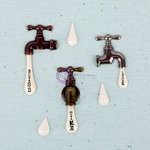 Prima - Junk Yard Findings Collection - Ingvild Bolme -Trinkets - Metal Embellishments - Vintage Water Taps