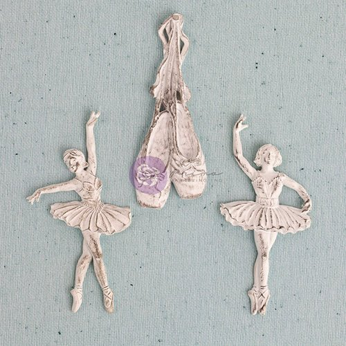 Prima - Shabby Chic Treasures Collection - Ingvild Bolme - Resin Embellishments - Ballerina