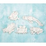 Prima - Shabby Chic Treasures - Ingvild Bolme - Resin Embellishments - Frogs