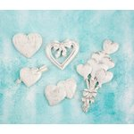 Prima - Shabby Chic Treasures - Ingvild Bolme - Resin Embellishments - Hearts
