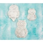 Prima - Shabby Chic Treasures - Ingvild Bolme - Resin Embellishments - Large Owls