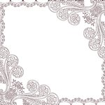 Prima - Life In Colors Collection - 12 x 12 Glittered Paper - Arabesque