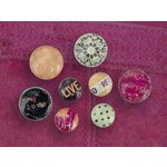 Prima - Pebbles Collection - Self Adhesive Pebbles - Flirty, CLEARANCE