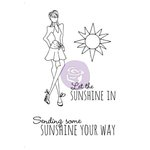 Prima - Julie Nutting - Cling Mounted Stamp Kit - Mixed Media Doll - Sunshine