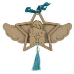 Prima - Julie Nutting - Christmas - Etched Wood Ornament - Starr