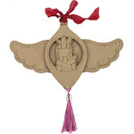 Prima - Julie Nutting - Christmas - Etched Wood Ornament - Joy