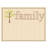 Prima - Donna Downey Collection - Embroidered Canvas Tabs - 2 Pieces - Family