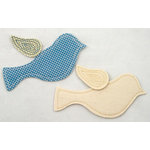 Prima - Donna Downey Collection - Embroidered Fabric Shapes - 2 Pieces - Bird