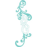 Prima - Donna Downey Collection - Iron On Transfers - Swirls - Blue, BRAND NEW