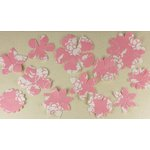 Prima - Donna Downey Collection - Screenprinted Canvas Petals - Pink