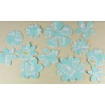 Prima - Donna Downey Collection - Screenprinted Canvas Petals - Blue