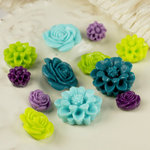 Prima - Cabachon Collection - Donna Downey - Sculpture Resin Flowers - Mix 2