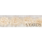 Prima - Donna Downey Collection - Rose Trim - Natural - 5 Yards