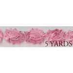 Prima - Donna Downey Collection - Rose Trim - Pink - 5 Yards