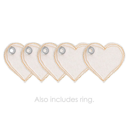 Prima - Donna Downey Collection - Fabric Canvas Album - Heart
