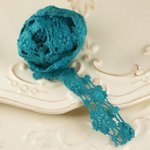 Prima - Cabachon Collection - Donna Downey - Lace - Turquoise - 30 Yards
