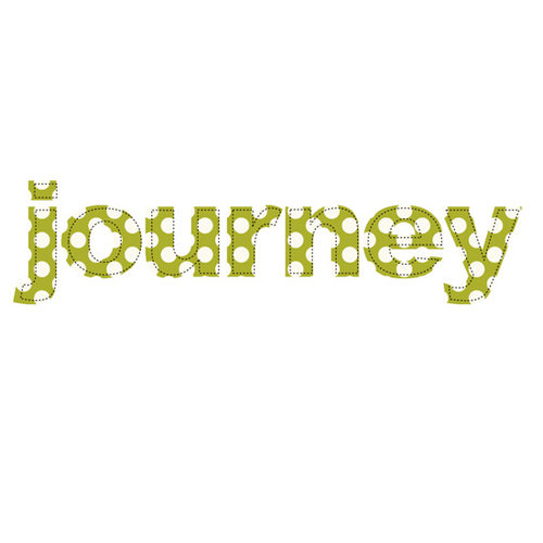 Prima - Donna Downey Collection - Fabric Stitched Words - Journey