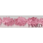Prima - Donna Downey Collection - Rose Trim - Pink - 1 Yard