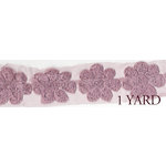 Prima - Donna Downey Collection - Rose Trim - Mauve - 1 Yard