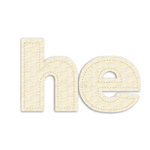 Prima - Donna Downey Collection - Fabric Stitched Paintable Words - He