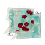Prima - Poppies and Peonies Collection - Donna Downey - Fabric Canvas Album - Poppy