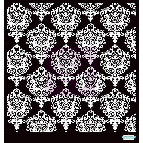 Prima - Poppies and Peonies Collection - Donna Downey - Stencils Mask Set - 12 x 12 - Damask