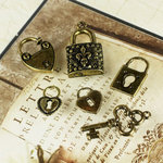 Prima - Vintage Trinkets Collection - Metal Embellishments - Keys