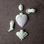 Prima - Archival Cast Collection - Relics and Artifacts - Plaster Embellishments - Ancient Heart