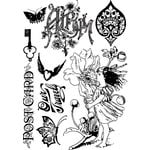 Prima - Nature Garden Collection - Cling Mounted Rubber Stamps