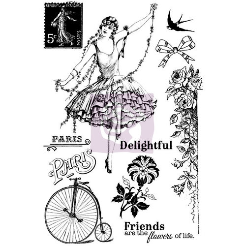 Prima - Divine Collection - Cling Mounted Rubber Stamps
