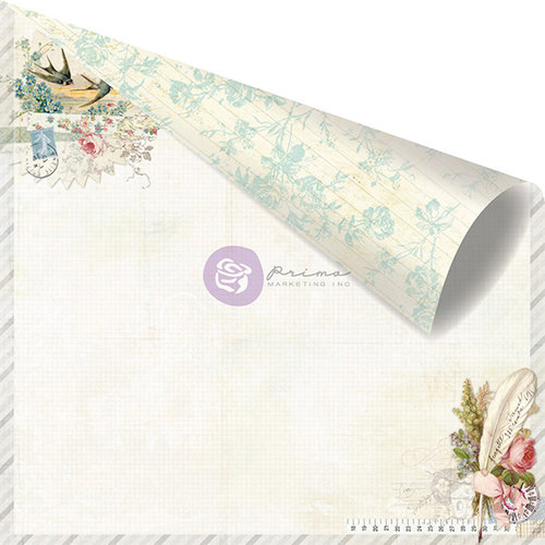 Prima - Delight Collection - 12 x 12 Double Sided Paper - Delicate