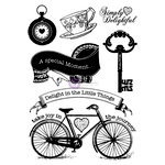 Prima - Delight Collection - Cling Mounted Rubber Stamps