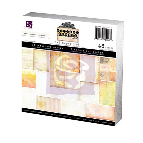 Prima - Sunrise Sunset Collection - 6 x 6 Paper Pad