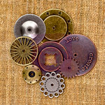 Prima - Sunrise Sunset Collection - Mechanicals - Vintage Trinkets - Metal Embellishments - Washers - One
