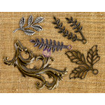 Prima - Finnabair Mechanicals - Vintage Trinkets - Leaves 1