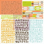Prima - Pocket Book Pad Collection - 12 x 12 Cardstock Stickers - Type and Tabs