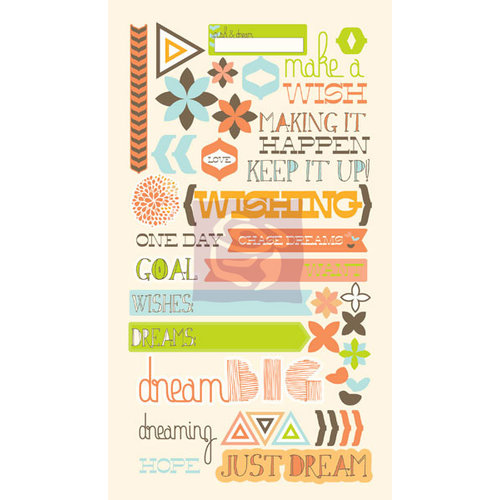 Prima - Pocket Book Pad Collection - Self Adhesive Chipboard Pieces