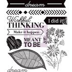 Prima - Wishful Thinking Collection - Cling Mounted Rubber Stamps - Two