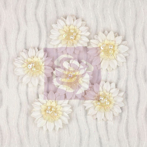 Prima - Wishes and Dreams Collection - Flower Embellishments - Daisies