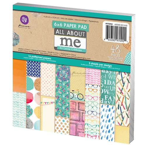Prima - Leeza Gibbons - All About Me Collection - 6 x 6 Paper Pad