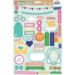 Prima - Leeza Gibbons - All About Me Collection - Self Adhesive Chipboard Pieces