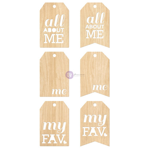 Prima - Leeza Gibbons - All About Me Collection - Wood Tags