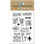 Paper Smooches - Clear Acrylic Stamps - Get Outta Town