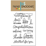 Paper Smooches - Clear Acrylic Stamps - Simply Said
