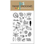 Paper Smooches - Clear Acrylic Stamps - Daisies and Paisleys