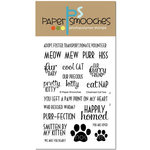 Paper Smooches - Clear Acrylic Stamps - Charmed Cat Two
