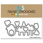Paper Smooches - Dies - Christmas - Warm Hearts Icons
